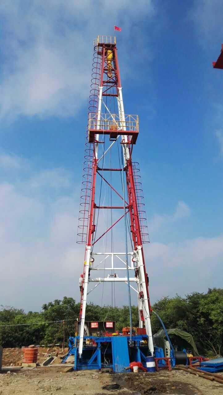 山东省地矿局五队使用河北生产的全套TSJ3000型水源yabo4用于江苏省盱眙地热井施工