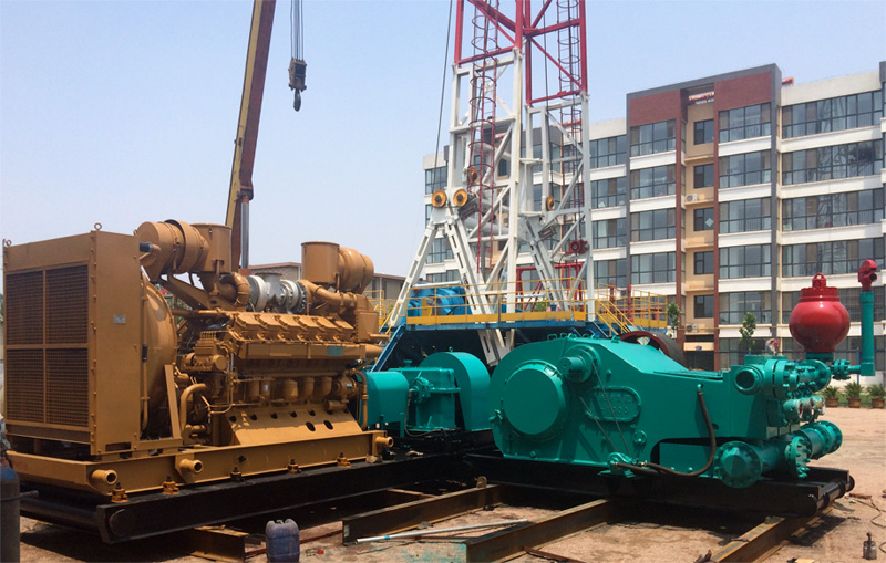 山西省潞安环保集团勘探公司采购我公司F-1000型泥浆泵组用于煤矿大口径施工