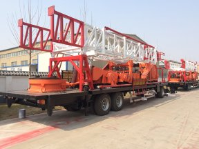 4 Sets SPT-1500 trailer-mounted drilling rig are exported to